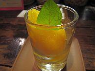 画像:パパイヤとグレープフルーツのソルベ